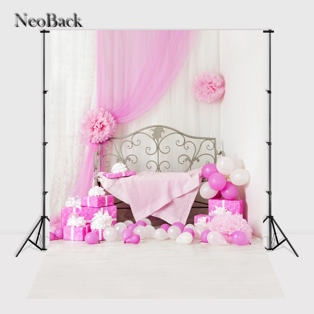 NeoBack 5x7ft Vinyl Cloth Children Kids Birthday Balloon Photography Backgrounds New Born Baby Photo Studio Backdrops P0767 new arrival background fundo doors balloon ladder 7 feet length with 5 feet width backgrounds lk 2817