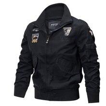 73ba96e17be Армейская военная куртка мужская осень-зима куртка-бомбер хлопковая куртка  промытое пальто Мужская пилот тактические куртки Air .
