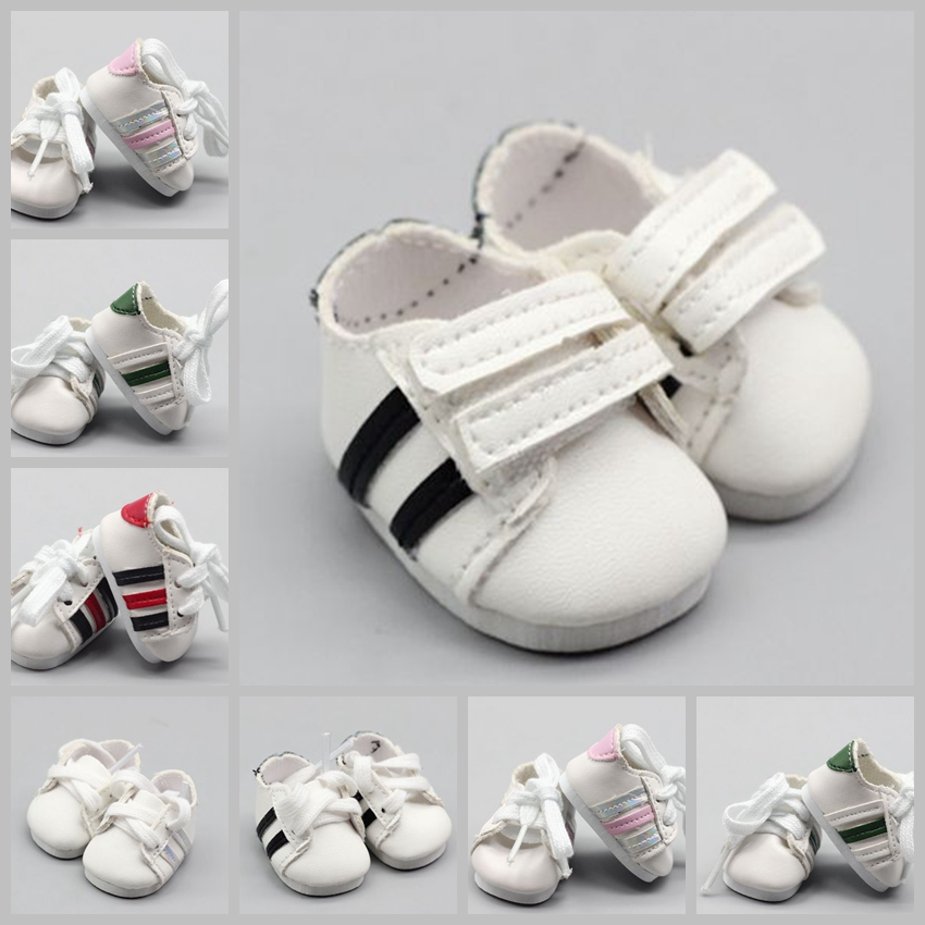 Assorted 5cm PU Leather Sports <font><b>Shoes</b></font> For <font><b>1/6</b></font> BJD <font><b>Doll</b></font> Fashion Mini Toy 5cm Canvas <font><b>Shoe</b></font> for Russian <font><b>Doll</b></font> Accessories image