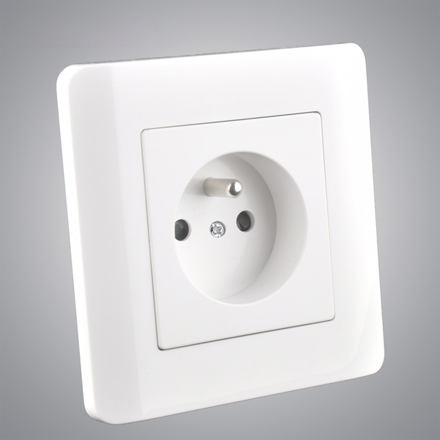 US $1 97 22% OFF|Aliexpress com : Buy Pure White 86mm France Wall Outlet CE  UL Standard 16A Electric Power Panel For Charging Energy from Reliable