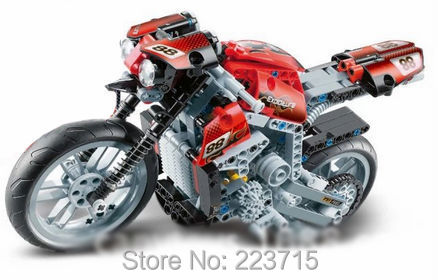 *Motorcycle 88* DIY enlighten block bricks,Compatible With other Assembles Particles