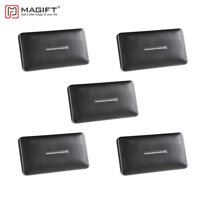 5PCS/lot Magift Portable Bluetooth Speaker 5in1 Multifunction Torchlight Mini Outdoor Wireless Power Bank Speakers for xiaomi FM remax h1 desktop speaker leather straps power bank mini portable speaker rb h1 hifi box and 8800mah power bank 2 in 1 function
