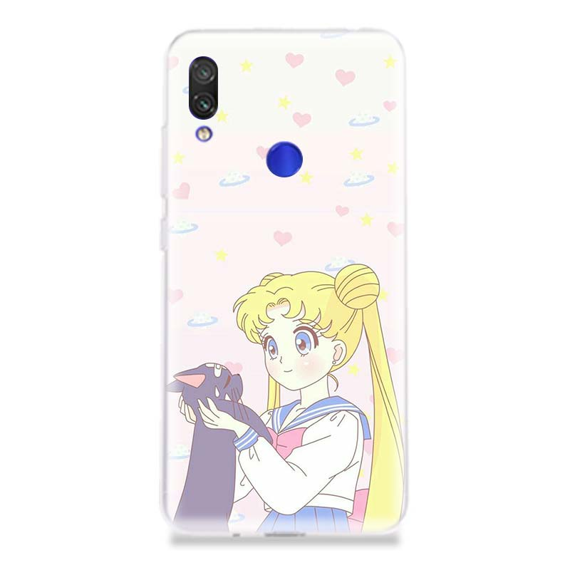 Sailor Moon Girl Unique Silicone Phone Case For Xiaomi Redmi 6A 7 4 4A 4X 5 5A 6 Pro Soft Art Patterned Customized Cover Cases in Half wrapped Cases from Cellphones Telecommunications