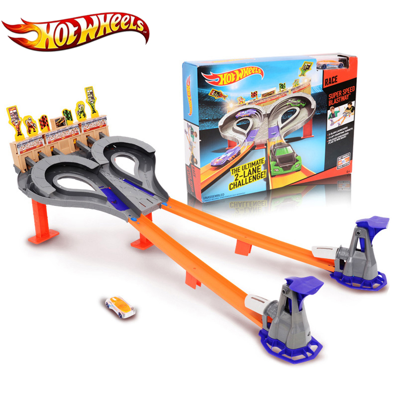 Genuine Hot Wheels Sport Track Toy High Impact Funny Toy High Quality Gift Box Car Hotwheels Track Mode CDL49 For Kids hot wheels sport car toy plastic track vehicles kid toys hot sale hotwheels cars track x2586 multifunctional classic boy toy car
