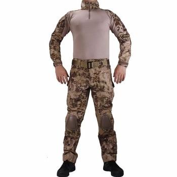 G2 Army Uniform BDU Military Tactical Combat Shirt Pants Suit Men Kryptek Highlander Camouflage Airsoft Sniper Hunting Clothes 2