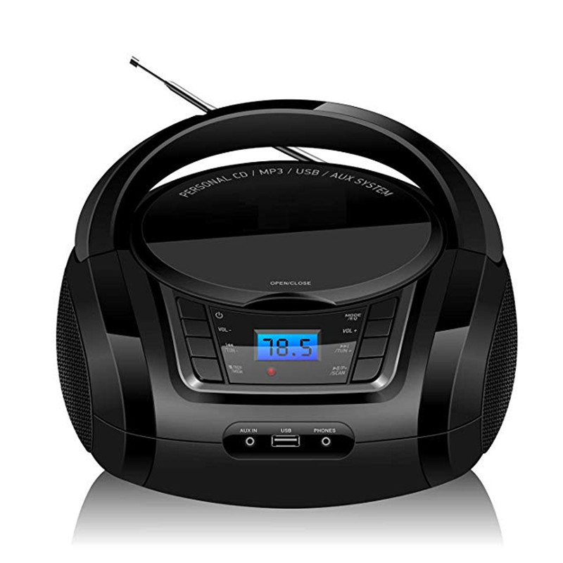 LONPOO Bluetooth CD Player Boombox Portable CD Player USB Boombox Stereo Subwoofer Speaker FM Radio AUX