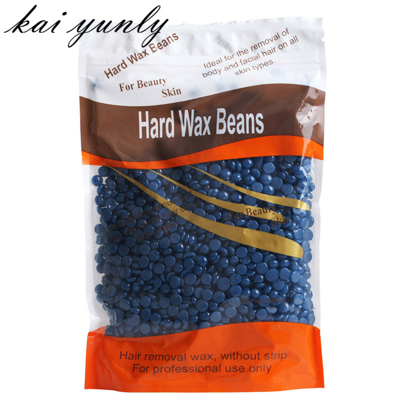 300g Hard Wax Beans No Strip Depilatory Hot Film Hard Wax Pellet Waxing Bikini Hair Removal Bean Chamomile Flavor Free Shipping