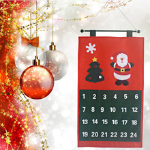 Santa Claus Snowman Deer Christmas Tree Calendar Advent Countdown Calendar Christmas Decorations For Home(China)