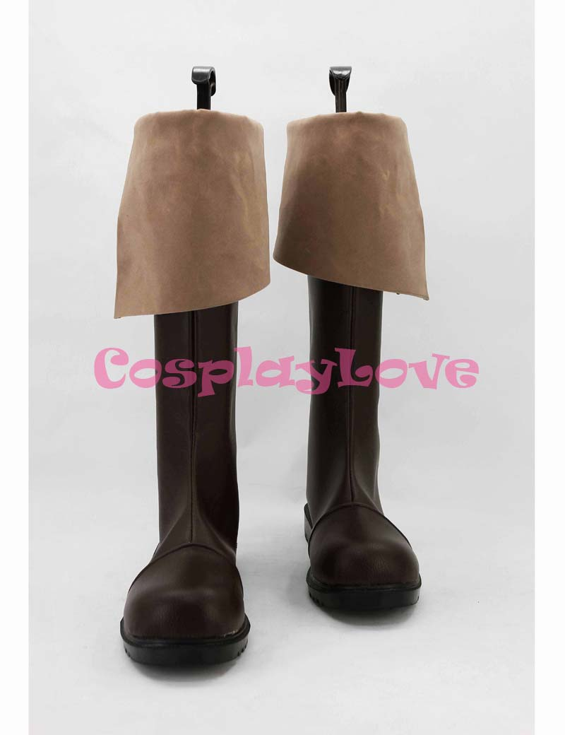 Galleria fotografica Custom Made Japanese Game <font><b>Assassins</b></font> <font><b>Creed</b></font> 4:<font><b>Black</b></font> <font><b>Flag</b></font> Connor Kenway Cosplay Shoes Boots For Halloween Christmas CosplayLove