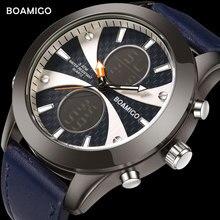 Men Sports Watches BOAMIGO Top Brand Men Quartz Watches Fashion LED Digital Wristwatches For Men Relogio Masculino Male Clock