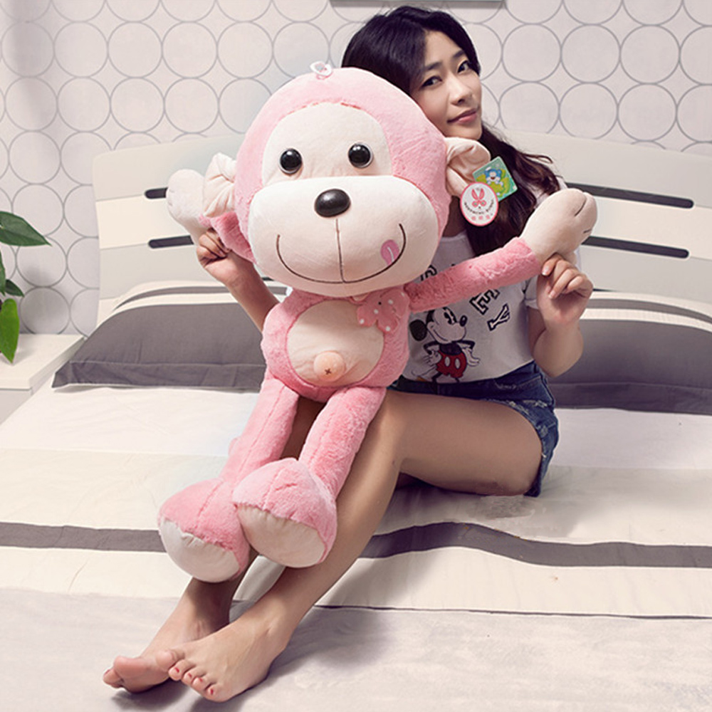Fancytrader Super Lovely Stuffed Soft Plush Giant Animal Monkey Toy 85cm Cute Monkey Doll Decoration for Kids Gifts stuffed animal jungle lion 80cm plush toy soft doll toy w56