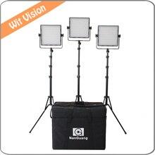 3pcs 600led 3200K 5600K Bi color Portable LED Studio Light Panel for Studio Broadcast and Photo
