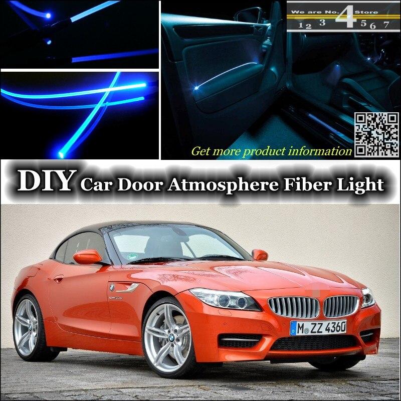 Pour BMW Z4 Z4M E85 E89 intérieur Lumière Ambiante Tuning atmosphère Fiber Optique Bande Lumières Porte éclairage Du Panneau Pas EL lumière dans Lampe décorative de Automobiles et Motos