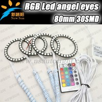 High Quality Rgb Led Ring 80mm LED Angel Eyes Halo Ring Kit Rgb Halo Rings 30SMD