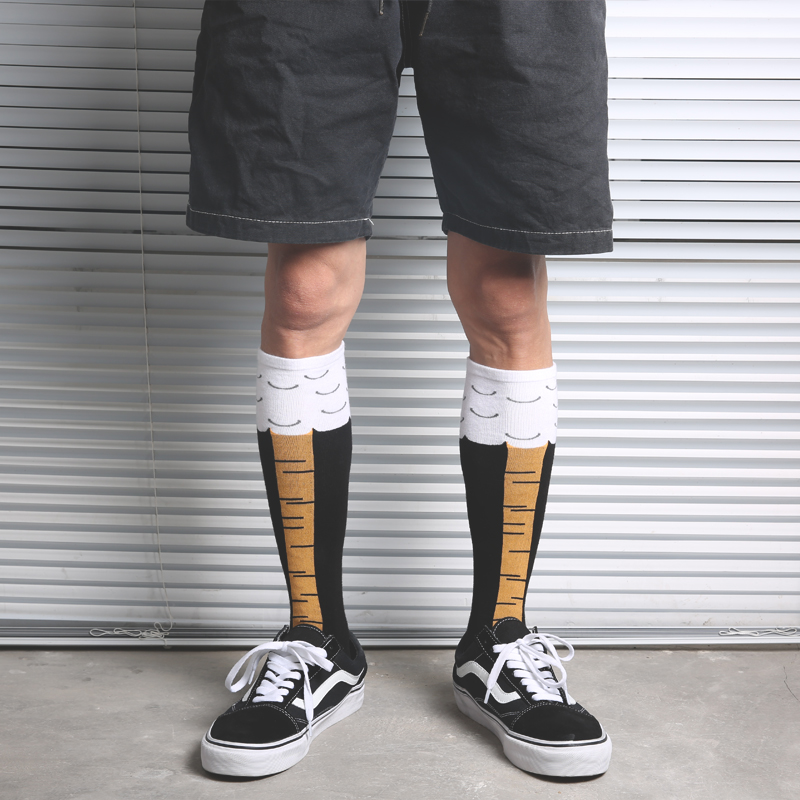 Adult Size Crew Socks Fashion Mid Knee Fun Chicken Chook Chick Hen Cock Rooster Drumstick Toe Leg Feet Claw Paw Talon Harajuku