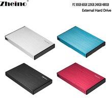 Zheino P2 30 ГБ USB3.0 внешний Алюминий чехол Супер Скорость с 2,5 SATA твердотельный накопитель Замена Внешний жесткий диск