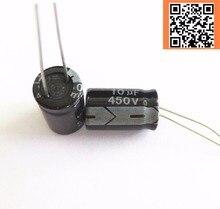 12pcs/lot 450v 10uf 450v10UF aluminum electrolytic capacitor size 10*17