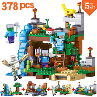 4 In 1 New 2017 Compatible MY WORLD Minecrafted 378pcs Building Blocks Bricks Set Educational Toys
