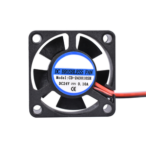 Image 4 - DC 5V 12V 24V 3010 מאוורר קירור Brushless מיני מאוורר 30*30*10MM כבל 17CM 2Pin רדיאטור שחור עבור 3D מדפסת חלקי Reprap