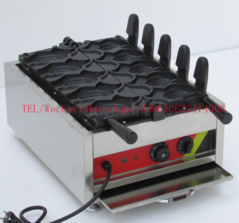 Free shipping Goldfish Ice cream Taiyaki Machine 5 pcs / plate Electric 110v 220v come with 3000W