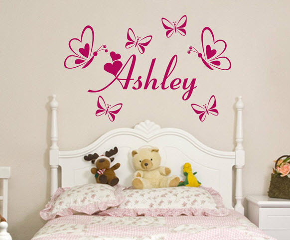 Personalized Custom Name Butterflies Vinyl Wall Decals Stickers - Personalized custom vinyl wall decals for nurserypersonalized wall decals for kids rooms wall art personalized
