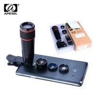 4 In 1 Universal Clip Camera Lens Kit 12XTelephoto Lens Wide Angle Macro Fisheye Lens For