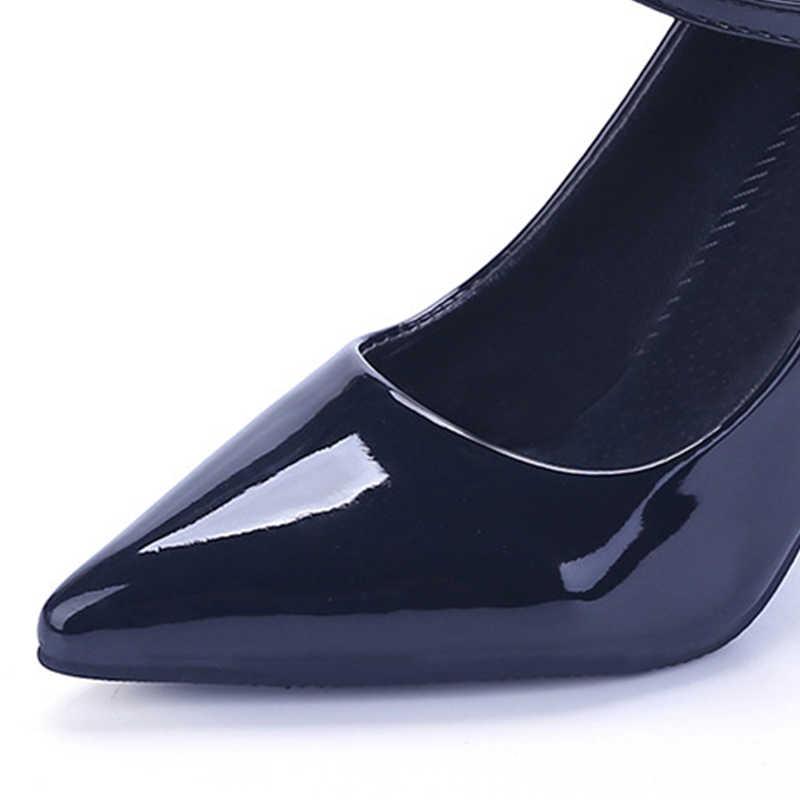 VTOTA, bombas de cuero para Mujer, tacones altos de alta calidad, Zapatos de punta estrecha para Mujer, boca baja, Zapatos de tacón alto sexis, Zapatos de Mujer P102
