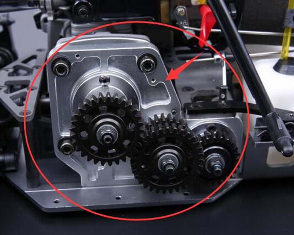 Ensemble de support d'engrenage de coupe d'embrayage en alliage d'aluminium de CNC pour pièces de rechange de voiture à l'échelle 1:5 hpi racing 4wd baja 5B rc