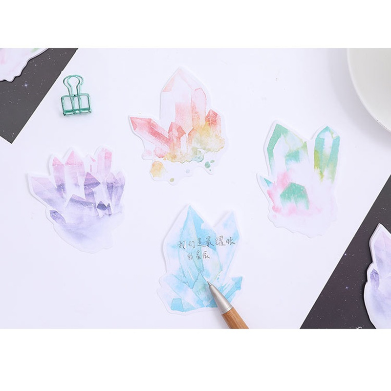 4 pcs Crystal from heart sticky note and memo pad Vintage stick marker Book Post Stationery Office School supplies F105