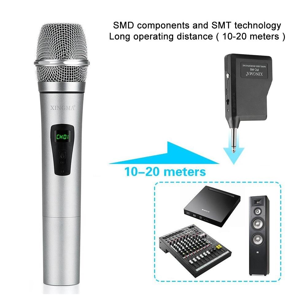 XINGMA PC-K6 сымсыз микрофон Караоке - Портативті аудио және бейне - фото 4