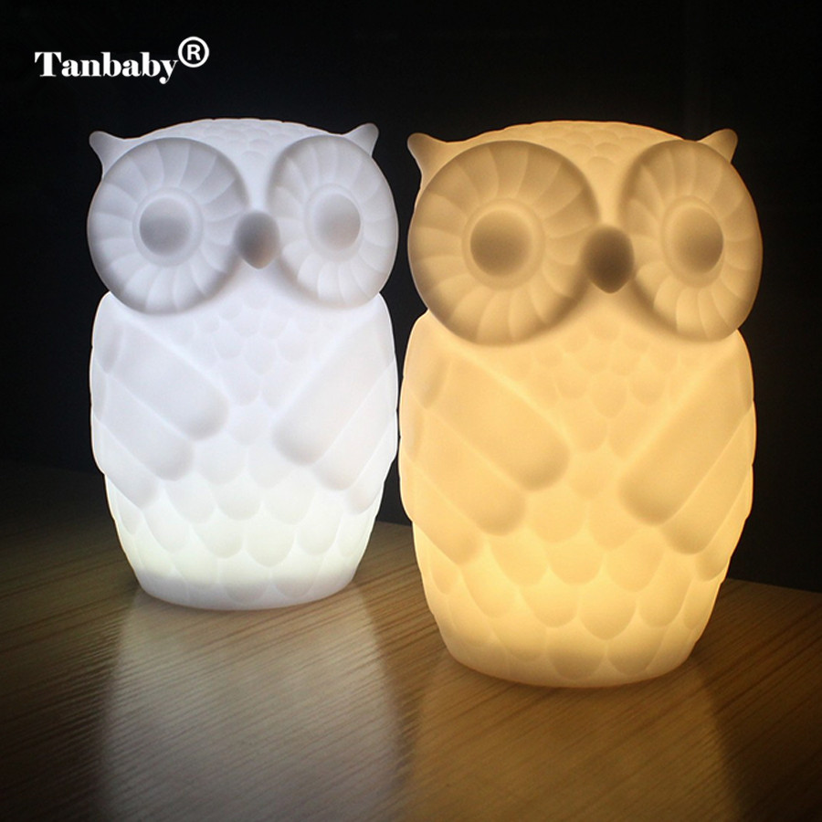 Amicable Owl Novelty Night Light Creative Childrens Toy Night Lamp Male/female Owl Style Aaa Battery Powered Hot Kid Gift Bedside Family Led Night Lights Lights & Lighting