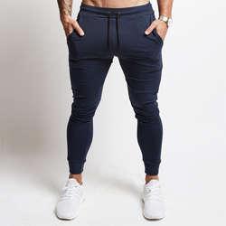 2019 для мужчин s повседневные брюки для пробежек Фитнес спортивная нижняя часть спортивного костюма узкие спортивные штаны мотобрюки