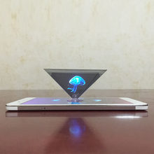 Nieuw 3D Hologram Piramide Display Projector Video Stand Universal Voor Smart Mobiele Telefoon(China)