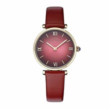 IBSO/BOERNI AIBISINO relojes ultrafinos de cuarzo para mujer, resistente al agua, con correa de cuero, B2210L