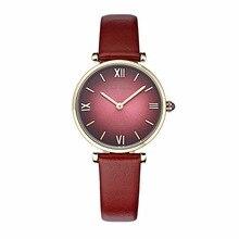 IBSO/BOERNI AIBISINOอัลตร้าบางนาฬิกาสตรีแฟชั่นควอตซ์นาฬิกากันน้ำสุภาพสตรีสายหนังนาฬิกาB2210L