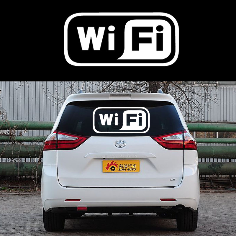 58cm x 25.38cm 2 x Wifi Graphical(one For Each Side)Car Sticker For Truck Door Side Window Rear Windshield Vinyl Decal 8 Colors halloween decor sticker 3d transparent car back rear window decal vinyl sticker horror monsters zombie