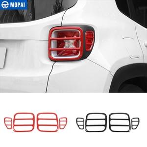 Image 1 - MOPAI cubierta protectora de Metal para faro trasero de coche, pegatina decorativa para Jeep Renegade 2015, accesorios exteriores, decoración para coche