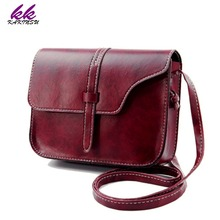 KAKINSU Brand 2016 Fashion Women's PULeather Handbag bag Small Crossbody Bags Vintage spring Women Messenger Shoulder Bag X-8401