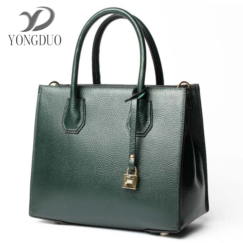 YONGDUO Genuine Leather Brand Women Bag Women Handbag First Layer Of Cowhide Tote Fashion Women Messenger Bags High Quality luxury genuine leather women s day handbag all match panelled small bags first layer of cowhide messenger bag women s clutch bag
