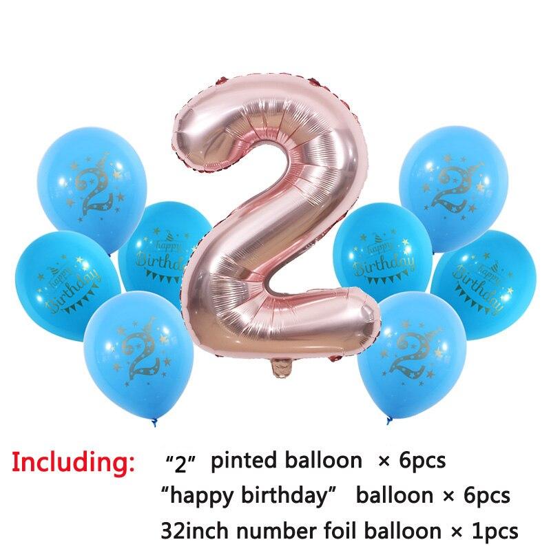 Dropwow 1 2 3 4 5 6 7 8 9 Years Old Happy Birthday Balloon Kids 1st