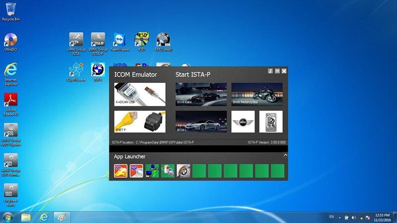 Цена за Для BMW ICOM A2 программного обеспечения rheingold ISIS ISID Многоязычная экспертный режим Последние ICOM HDD 500 ГБ Fit в 95% ноутбук