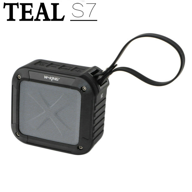 Teal W KING S7 Portable NFC Wireless Waterproof Bluetooth 4 0 font b Speaker b font