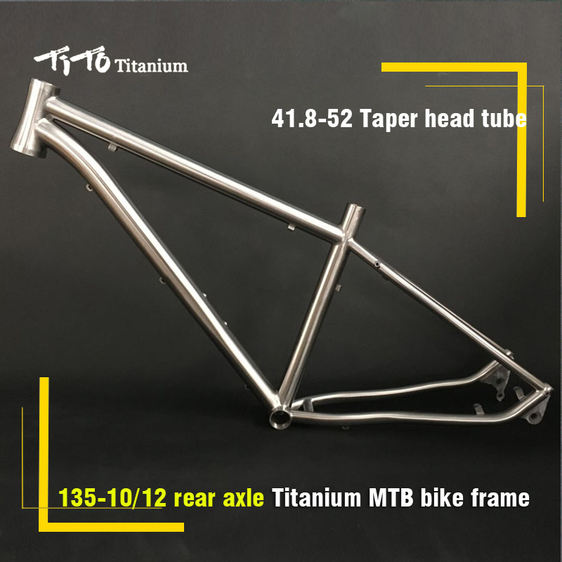 все цены на FREE SHIPPING !!! TiTo Titanium MTB bike frame 26``   27.5``  29`` hidden disc brake 135 Barrel shaft  bicycle онлайн