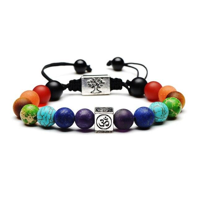 Bracelet Sept Chakras En Arbre De Vie
