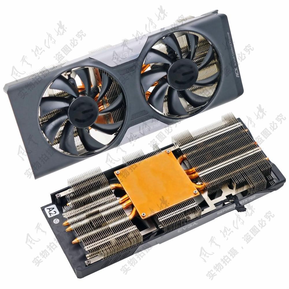 Nouvelle D'origine pour EVGA GTX760 ACX quatre caloduc Graphique carte vidéo radiateurs