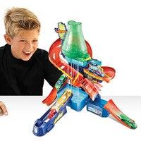 Original Hot Wheels 2017 Science Lab Décoloration De Voiture Ferroviaire Hotwheels Jouets Éducatifs D'anniversaire De Noël jouets Pour Enfants