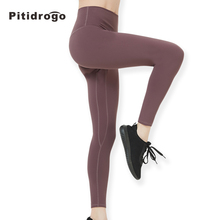 Pitidrogo Womens Sport Yoga running pants High Waist Workout Power Flex Tummy Control Leggings KL103