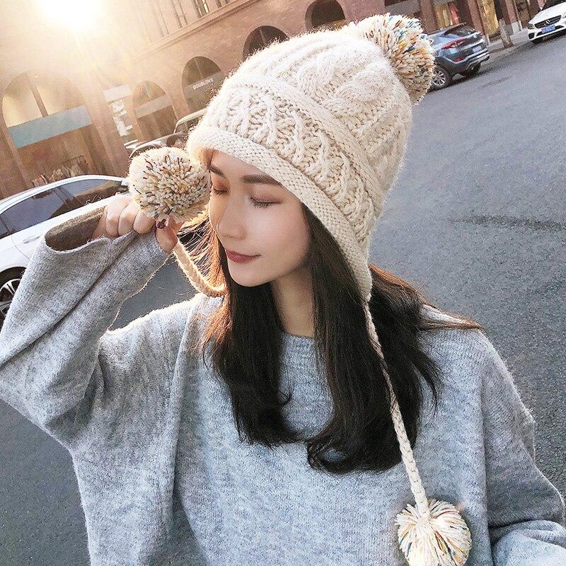Invierno nueva llegada sombrero de lana de Corea del Sur de protectores auditivos de chica dulce sombrero Casual - 3