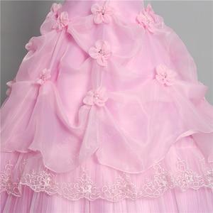 Image 5 - 3 צבע פרחים חדש 2020 קוריאני סגנון מתוק Stapless נסיכת חתונה שמלה בתוספת גודל ורוד רטרו לוטוס כלה שמלת Vestidos דה