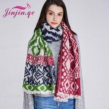Jinjin.QC Brand Women Scarf Long Scarves and Shawls Spain Style Echarpe Foulard Femme Geometric Bandana Pashmina Drop Shipping